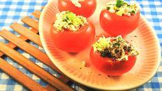 Gevulde tomaten met een pittig hüttenkäsemengsel; een gezond en lekker recept van HappyHealthy. Kijk online hoe je dit originele gerecht bereidt!