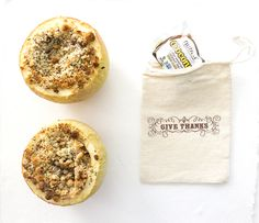 Give Thanks + O'Coconut Baked Apple Stuffed Crumble sarahkayhoffman.com #Nutiva
