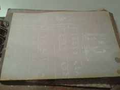 A close up of the ledger stencil that I used in this project.