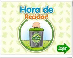 """""""Caillou. Hora de reciclar"""" es un juego en el que Caillou nos invita a separar los residuos en sus contenedores y ayudar así a reciclar."""