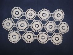 Exquisite Vintage Lace Table Runner Hand Crochet by VerasLinens
