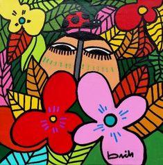 OBRAS : Claudio Baldrich Artista Plastico Folk Art, Minnie Mouse, Disney Characters, Fictional Characters, Ideas, Visual Arts, Paintings, Illustrations, Artists