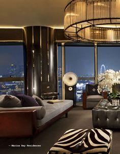 Attraktiv Penthouse View, Dramatic Lighting, Neutral And Dark Tones.