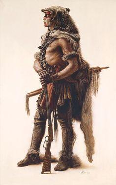 Northern Cheyenne Wolf Scout, James Bama ANNIVERSARY EDITION CANVAS