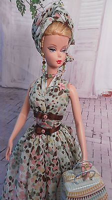 Silkstone OOAK  FR Vintage Barbie Doll Dress Reproduction Barbie Clothes by Mary