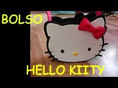 MANUALIDADES-como hacer un bolso (dulcero) de hello kitty de goma eva  (foami)…