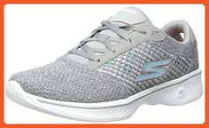 Breathe Easy-Lucky Lady, Mary Janes Femme, Gris (Light Grey), 38 EUSkechers