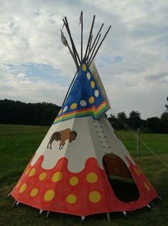 Painted Tipi, view 1- offered by ebay seller callehorse2013
