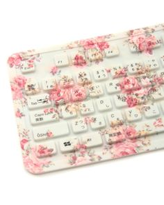 @ SOFIA this reminded me of you =)  Shabby Floral Keyboard........E*