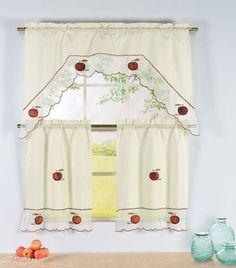 Apple Time Kitchen Curtain Set