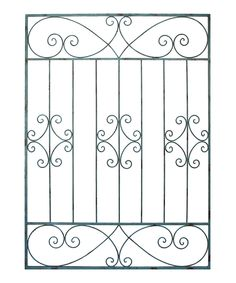 Look what I found on Metal Gate Wall Décor by VIP International Home Window Grill Design, Iron Window Grill, House Window Design, Balcony Grill Design, Grill Door Design, Wrought Iron Gate Designs, Craftsman Front Doors, Interior Design Presentation, Iron Doors