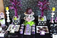 "Photo 1 of 14: Sassy & Fun Halloween Party / Halloween ""Halloween Glam Dessert Table"" 