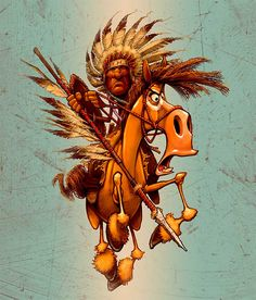Yes, it is Chief Crazy Horse riding his... well... crazy horse.