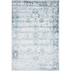 Bungalow Rose Ford Light Blue Area Rug