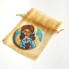 Angel mirror Pocket mirror Compact mirror Hand mirror Little girl makeup mirror Girl purse mirror favors Little girl birthday gift for her