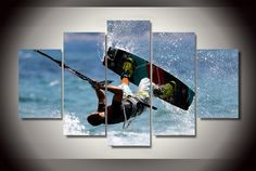 HD Printed kite surf sports Painting on canvas room decoration print poster…