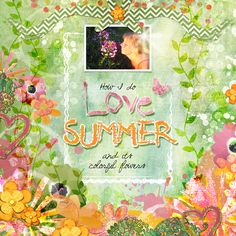 Layout By Joyce Schardt. Color Me Summer Collection Mini, designed by Cindy Rohrbough, Scrap Girls, LLC digital scrapbooking product designer