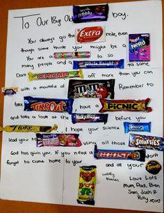 An Australian Chocolate poem for our son 18th Birthday