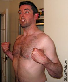 pumped up chest mans popped out bareknuckle fighter