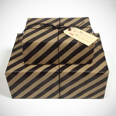 For just a few extra bones, we'll gift wrap anything you like in housemade, black-striped kraft wrapping paper and tie it up with black jute rope and a custom gift tag. Each package includes a special