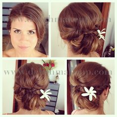 Hawaii makeup and hair. Hawaii makeup and hair. Hawaii Makeup, Blue Hawaii, Soft Hair, Updos, Getting Married, Blond, Wedding Hairstyles, Stylists, My Style