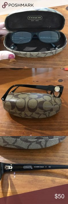 Coach eyeglasses Coach prescription glasses, will need to replace lenses for whatever prescription you have. They are in excellent condition, authentic coach glasses from LensCrafters. Case is included, price is negotiable. lens will be removed before shipment Coach Accessories Sunglasses