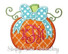 Hey, I found this really awesome Etsy listing at https://www.etsy.com/listing/247283328/pumpkin-bow-machine-embroidery-applique