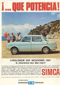 Simca our first family car Classic Motors, Classic Cars, Vintage Advertisements, Vintage Ads, Old Posters, Nostalgia, Automobile, Hot Rods, Car Brochure