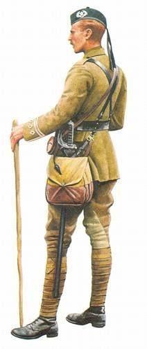 Captain, 1st The Cameronians (Scottish Rifles), 1914.