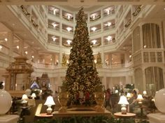 Decorated for the holidays at the Grand Floridian http://www.allears.net #Christmas #GrandFloridian #WDW #DisneyWorld
