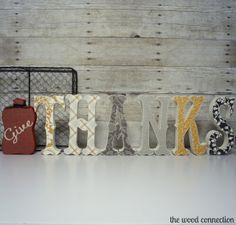 The Wood Connection - Give Thanks, $19.95 (http://thewoodconnection.com/give-thanks/)