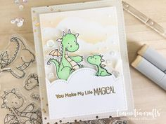 My Favorite Things Dragons Handmade Card