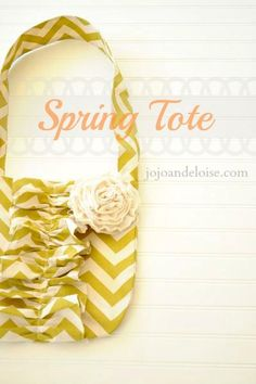 DIY Spring Cheveron Tote Bag