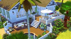 By request, I've uploaded the Slice of Lime Cottage in a low-CC version. The CC is only required for the exterior; the interior is all EA. This 2-bedroom, 2-bathroom cottage is decorated with a...