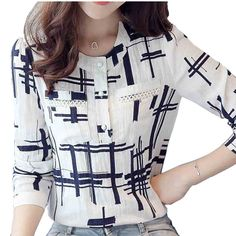 Cheap blouse office, Buy Quality office lady directly from China women blouse 2016 Suppliers: EveingAsky Elegant Striped Shirts Women Chiffon Tops Women's Blouses 2016 Spring Women Blouses Office Lady Large Size Blouse Styles, Blouse Designs, Formal Tops, Hijab Style, Cotton Blouses, Women's Blouses, Office Ladies, Plus Size Blouses, Ladies Dress Design