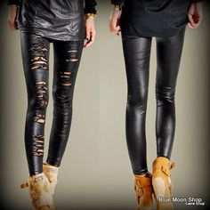 Cheap stretch leggings, Buy Quality lace leggings directly from China fashion leggings Suppliers: Sexy Women broken hole Lace Stretch Legging Pants Female Leather Fashion Skinny Hole Lace Leggings For Girls Leggings Brilhantes, Cut Out Leggings, Shiny Leggings, Girls In Leggings, Leggings Are Not Pants, Tights, Leather And Lace, Faux Leather Leggings, Pu Leather