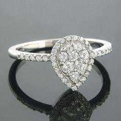 Unique Exquisite Ladies Diamond Rings This K Gold Cluster Diamond Ring showcases ctw of sparkling
