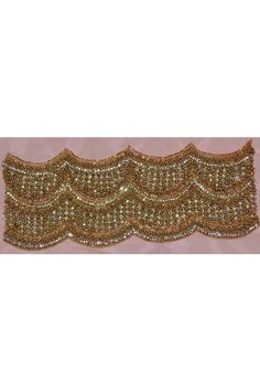 Golden Party Hand Embroidery Border