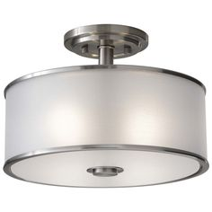 BASEMENT BEDROOM:  Casual Luxury Semi-Flushmount Light