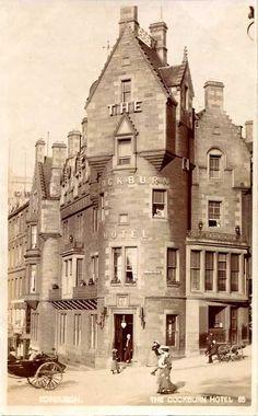 1 Cockburn Street ༺✿༺  Cockburn Hotel, Edinburgh.
