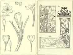 New embroidery diy letters tutorials Ideas Motifs Art Nouveau, Art Nouveau Flowers, Art Nouveau Pattern, Art Nouveau Design, Design Art, Art Nouveau Tattoo, Jugendstil Design, Floral Drawing, Motif Floral