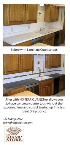"Kitchen Backsplash Over Drywall granicrete over laminate with granicrete ""tile"" backsplash over"