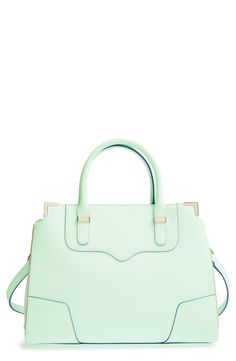 Love adding this mint Rebecca Minkoff satchel to everyday outfits for a fun splash of color.