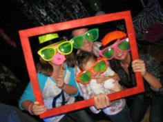Painted frames with glow in dark paint for glow, Blacklight party