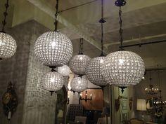 Elegant crystal lighting.
