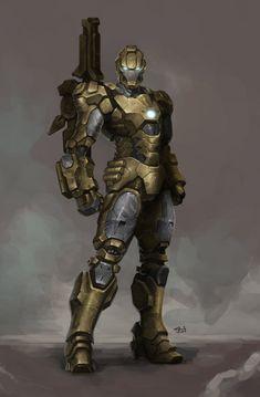 ArtStation - War Machine - Desert Combat Suit , Jinhwan Oh