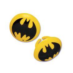Cupcake Favor Rings - Batman Symbol (24)
