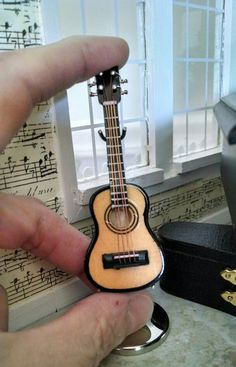 1:12th scale miniature guitar