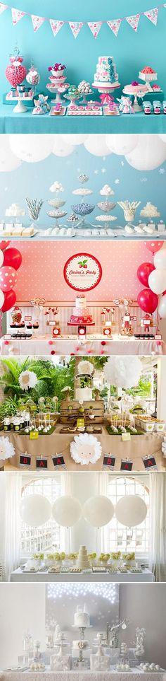 25 Encantadores diseños de mesas de postres y dulces // Lovely Dessert Table Designs