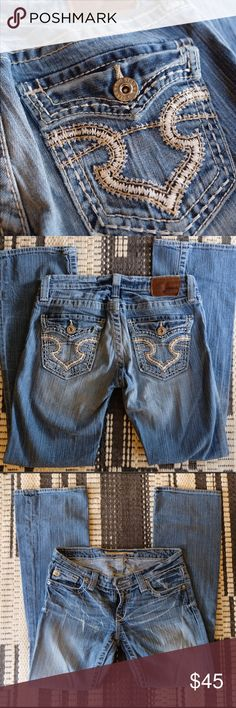 Big Star 28R Jeans These Big Star low rise boot cut jeans are in beautiful condition. They are size 28 and regular length.                Make an offer! Big Star Jeans Boot Cut